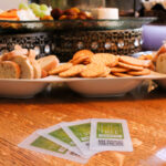 Bread and Cracker Tray with fig tree catering business cards