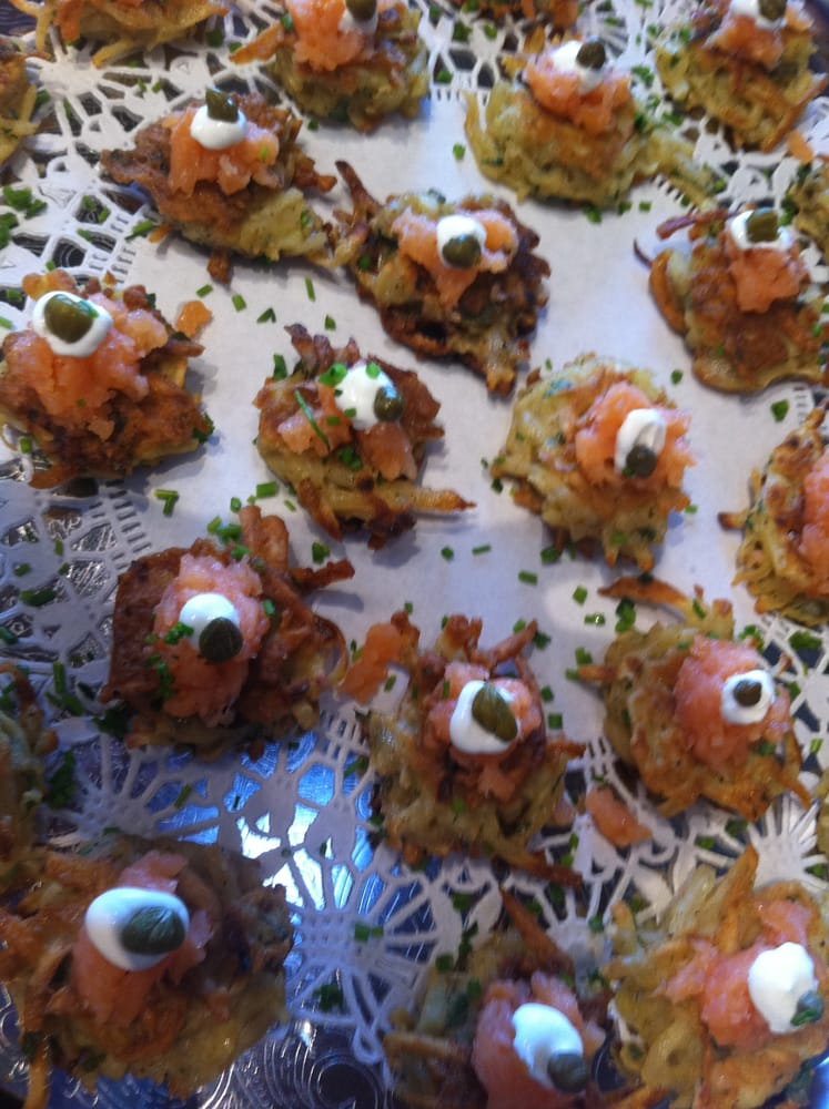 Potato Leek Latkes with Smoked Salmon