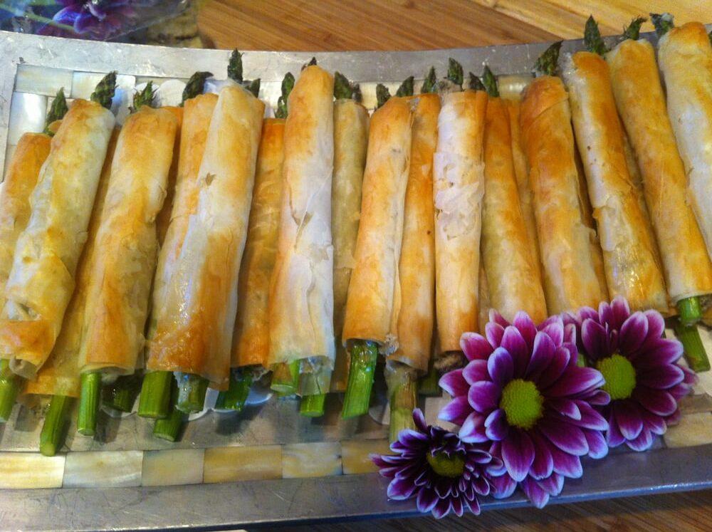 Asparagus and Bleu Cheese Straws
