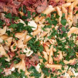 Pasta with Sundried Tomatoes and Rosemary